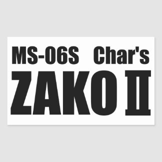 Char's ZAKO Rectangular Sticker