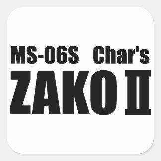Char's ZAKO Square Sticker