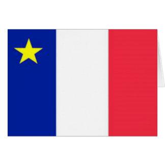 Chart acadian flag card