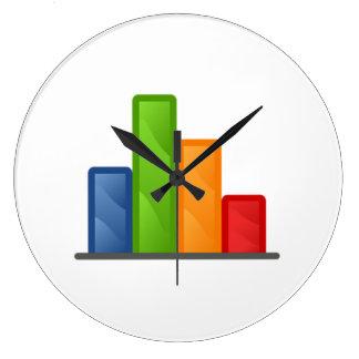 Chart and Graph Wall Clock