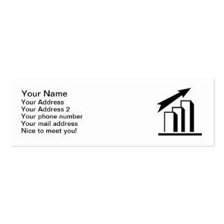 Chart arrow profit business card templates