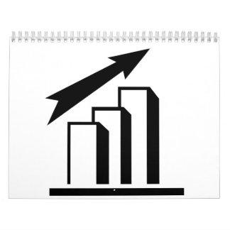 Chart arrow profit wall calendar