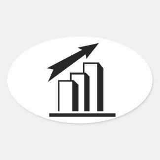 Chart arrow profit oval sticker
