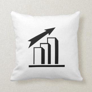 Chart arrow profit throw pillow