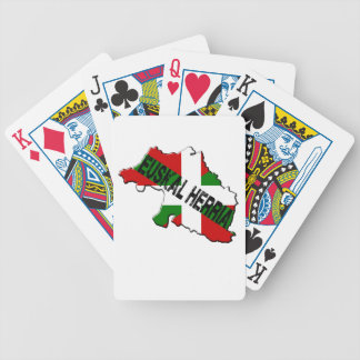 Chart Basque Country plus flag euskal herria Bicycle Playing Cards
