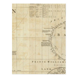 Chart containing part of the Icy Sea Postcard
