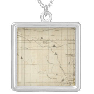 Chart containing the greater part silver plated necklace