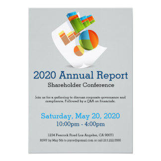 Chart Document Annual Report Meeting Invitation