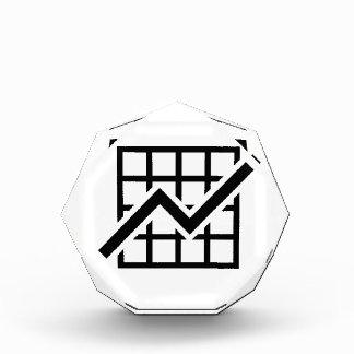 Chart growth profit acrylic award