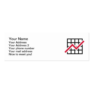 Chart growth profit business card