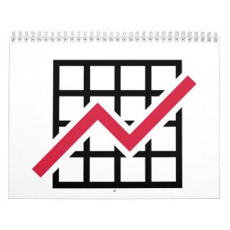 Chart growth profit wall calendar