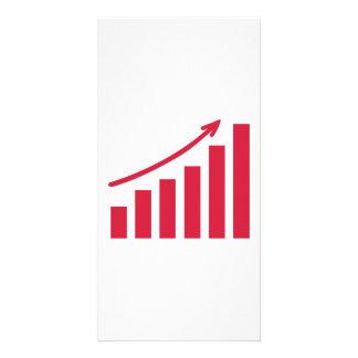 Chart growth profit photo card