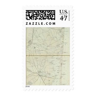 Chart map of Spring Lake to Cedar Creek Coast Postage