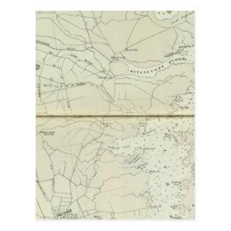 Chart map of Spring Lake to Cedar Creek Coast Postcard