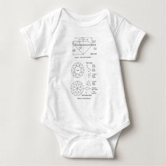 Chart of Diamond Cut Facets Proportions & Names Baby Bodysuit