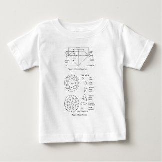 Chart of Diamond Cut Facets Proportions & Names Baby T-Shirt