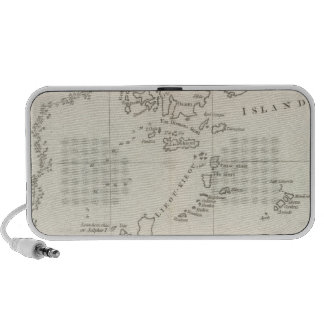 Chart of Discoveries, Made in 1787 iPhone Speaker