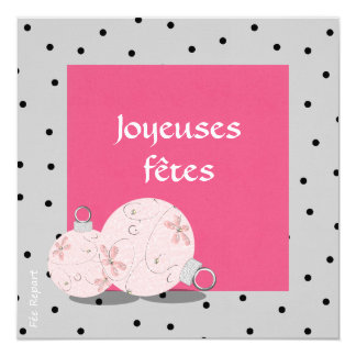 Chart of end of the year merry festivals swell déc 5.25x5.25 square paper invitation card