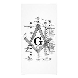 Chart of Masonic Degrees Card