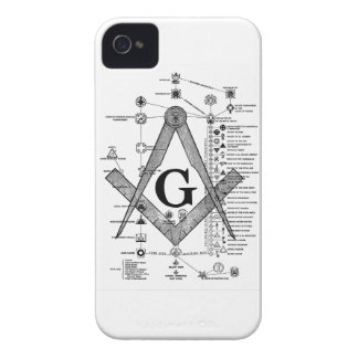 Chart of Masonic Degrees Case-Mate iPhone 4 Cases