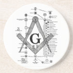 "Chart of Masonic Degrees Coaster<br><div class=""desc"">Chart of Masonic Degrees</div>"