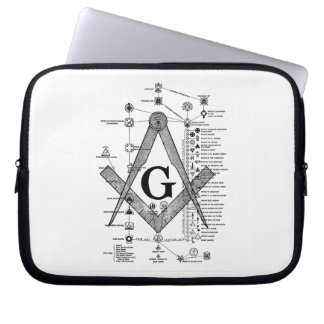 Chart of Masonic Degrees Computer Sleeve