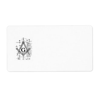 Chart of Masonic Degrees Shipping Label
