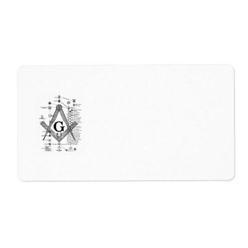 Chart of Masonic Degrees Custom Shipping Label