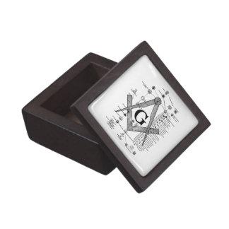 Chart of Masonic Degrees Premium Keepsake Box