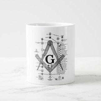 Chart of Masonic Degrees 20 Oz Large Ceramic Coffee Mug