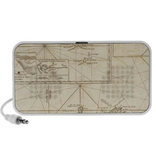 Chart of the Acores Hawks Islands Portable Speaker