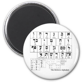 Chart of the Alphabet in the Hebrew Language Magnet