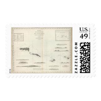 Chart of the Archipelago of Navigators Samoa Postage
