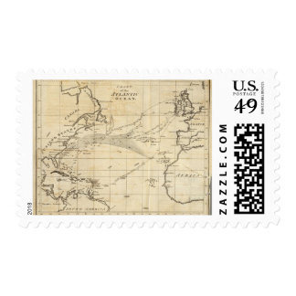 Chart of the Atlantic Ocean 2 Postage