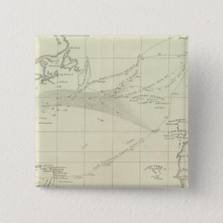 Chart of the Atlantic Ocean Pinback Button