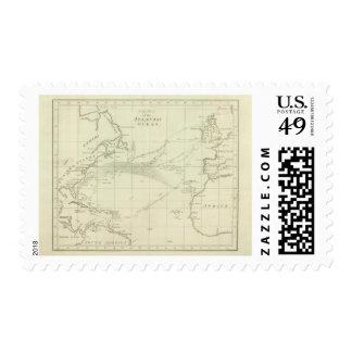 Chart of the Atlantic Ocean Postage