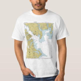Chart of the Chesapeake Bay Tee Shirt