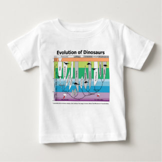 Chart of the Evolution of Dinosaurs Baby T-Shirt