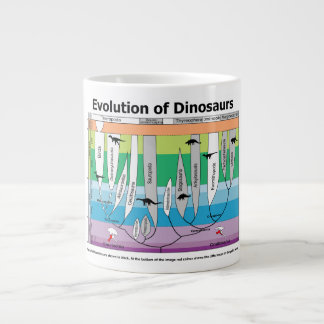 Chart of the Evolution of Dinosaurs Large Coffee Mug