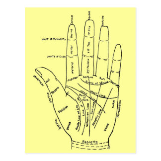 Chart of the Hand Postcards