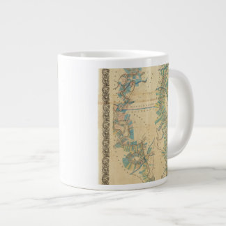 Chart of The Lower Mississippi River 20 Oz Large Ceramic Coffee Mug