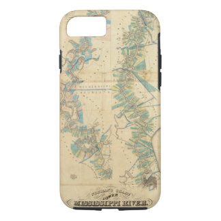 Chart of The Lower Mississippi River iPhone 7 Case