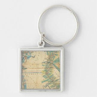 Chart of The Lower Mississippi River Key Chains