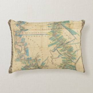 Chart of The Lower Mississippi River Accent Pillow