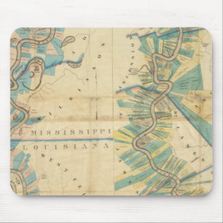 Chart of The Lower Mississippi River Mouse Pad