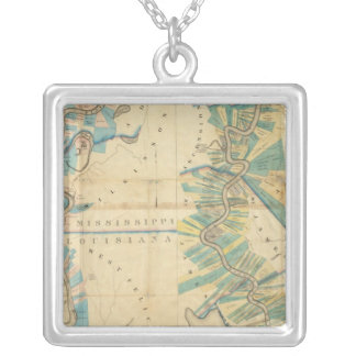 Chart of The Lower Mississippi River Custom Necklace