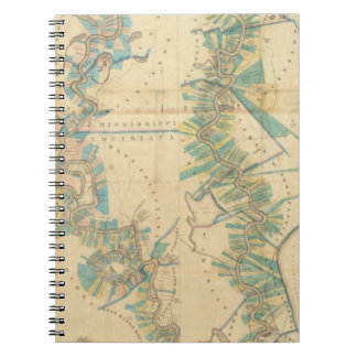 Chart of The Lower Mississippi River Spiral Note Book
