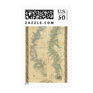 Chart of The Lower Mississippi River Postage