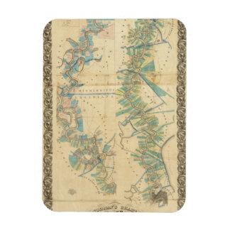 Chart of The Lower Mississippi River Rectangular Photo Magnet