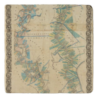 Chart of The Lower Mississippi River Trivets